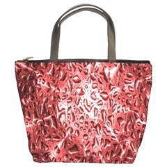 Water Drops Red Bucket Bags by Nexatart