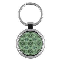 Seamless Abstraction Wallpaper Digital Computer Graphic Key Chains (round)  by Nexatart