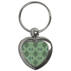 Seamless Abstraction Wallpaper Digital Computer Graphic Key Chains (heart)  by Nexatart