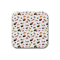 Sushi Lover Rubber Square Coaster (4 Pack)  by tarastyle