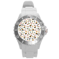 Sushi Lover Round Plastic Sport Watch (l) by tarastyle