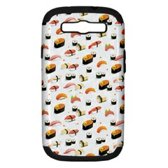 Sushi Lover Samsung Galaxy S Iii Hardshell Case (pc+silicone) by tarastyle