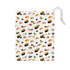 Sushi Lover Drawstring Pouches (large)  by tarastyle