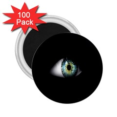 Eye On The Black Background 2 25  Magnets (100 Pack)