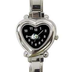Eye On The Black Background Heart Italian Charm Watch by Nexatart