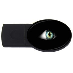 Eye On The Black Background Usb Flash Drive Oval (4 Gb)