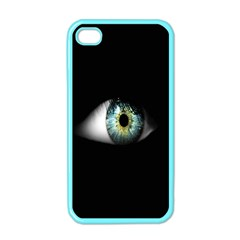 Eye On The Black Background Apple Iphone 4 Case (color) by Nexatart