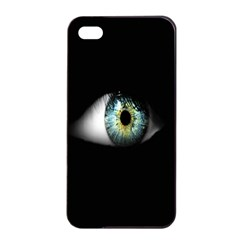 Eye On The Black Background Apple Iphone 4/4s Seamless Case (black) by Nexatart