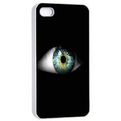 Eye On The Black Background Apple Iphone 4/4s Seamless Case (white) by Nexatart