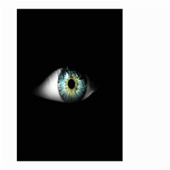 Eye On The Black Background Small Garden Flag (two Sides) by Nexatart