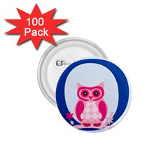 Alphabet Letter O With Owl Illustration Ideal For Teaching Kids 1 75  Buttons (100 Pack)