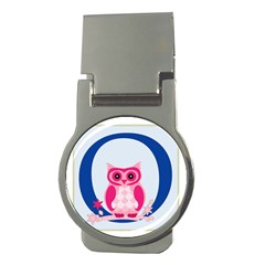 Alphabet Letter O With Owl Illustration Ideal For Teaching Kids Money Clips (round)  by Nexatart