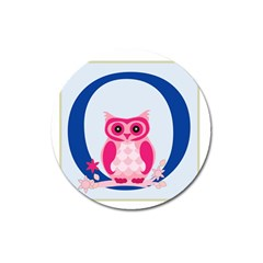 Alphabet Letter O With Owl Illustration Ideal For Teaching Kids Magnet 3  (round) by Nexatart