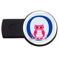 Alphabet Letter O With Owl Illustration Ideal For Teaching Kids Usb Flash Drive Round (2 Gb) by Nexatart