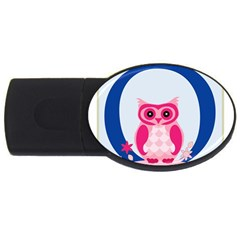 Alphabet Letter O With Owl Illustration Ideal For Teaching Kids Usb Flash Drive Oval (2 Gb) by Nexatart