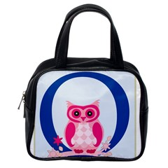 Alphabet Letter O With Owl Illustration Ideal For Teaching Kids Classic Handbags (one Side) by Nexatart