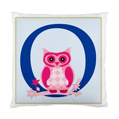 Alphabet Letter O With Owl Illustration Ideal For Teaching Kids Standard Cushion Case (one Side) by Nexatart