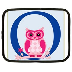 Alphabet Letter O With Owl Illustration Ideal For Teaching Kids Netbook Case (xl)  by Nexatart