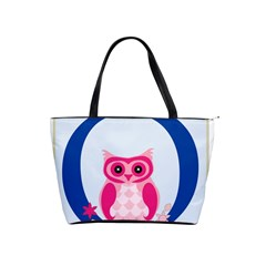 Alphabet Letter O With Owl Illustration Ideal For Teaching Kids Shoulder Handbags by Nexatart