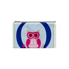 Alphabet Letter O With Owl Illustration Ideal For Teaching Kids Cosmetic Bag (small)  by Nexatart