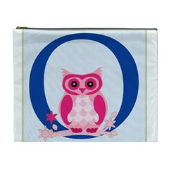 Alphabet Letter O With Owl Illustration Ideal For Teaching Kids Cosmetic Bag (xl) by Nexatart