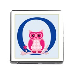 Alphabet Letter O With Owl Illustration Ideal For Teaching Kids Memory Card Reader (square) by Nexatart