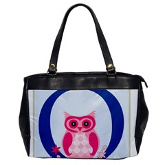 Alphabet Letter O With Owl Illustration Ideal For Teaching Kids Office Handbags