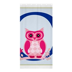 Alphabet Letter O With Owl Illustration Ideal For Teaching Kids Shower Curtain 36  X 72  (stall)  by Nexatart