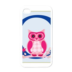 Alphabet Letter O With Owl Illustration Ideal For Teaching Kids Apple Iphone 4 Case (white) by Nexatart