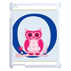 Alphabet Letter O With Owl Illustration Ideal For Teaching Kids Apple Ipad 2 Case (white) by Nexatart