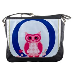 Alphabet Letter O With Owl Illustration Ideal For Teaching Kids Messenger Bags by Nexatart