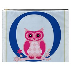 Alphabet Letter O With Owl Illustration Ideal For Teaching Kids Cosmetic Bag (xxxl)  by Nexatart