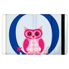 Alphabet Letter O With Owl Illustration Ideal For Teaching Kids Apple Ipad 3/4 Flip Case by Nexatart