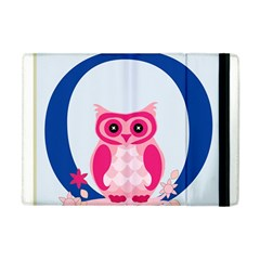 Alphabet Letter O With Owl Illustration Ideal For Teaching Kids Apple Ipad Mini Flip Case by Nexatart