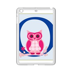 Alphabet Letter O With Owl Illustration Ideal For Teaching Kids Ipad Mini 2 Enamel Coated Cases by Nexatart