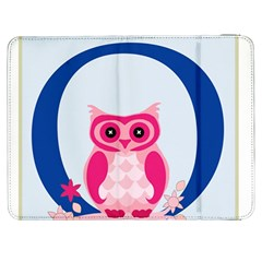 Alphabet Letter O With Owl Illustration Ideal For Teaching Kids Samsung Galaxy Tab 7  P1000 Flip Case by Nexatart