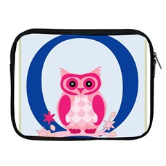 Alphabet Letter O With Owl Illustration Ideal For Teaching Kids Apple Ipad 2/3/4 Zipper Cases by Nexatart
