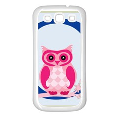 Alphabet Letter O With Owl Illustration Ideal For Teaching Kids Samsung Galaxy S3 Back Case (white) by Nexatart