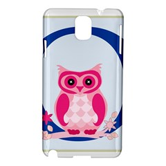 Alphabet Letter O With Owl Illustration Ideal For Teaching Kids Samsung Galaxy Note 3 N9005 Hardshell Case by Nexatart