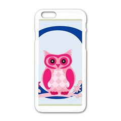 Alphabet Letter O With Owl Illustration Ideal For Teaching Kids Apple Iphone 6/6s White Enamel Case