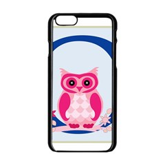 Alphabet Letter O With Owl Illustration Ideal For Teaching Kids Apple Iphone 6/6s Black Enamel Case by Nexatart