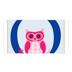 Alphabet Letter O With Owl Illustration Ideal For Teaching Kids Satin Shawl by Nexatart