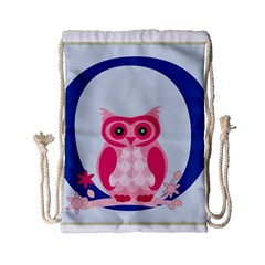 Alphabet Letter O With Owl Illustration Ideal For Teaching Kids Drawstring Bag (small) by Nexatart