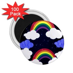 Rainbow Animation 2 25  Magnets (100 Pack)