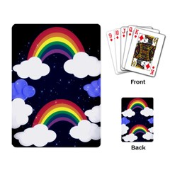 Rainbow Animation Playing Card by Nexatart