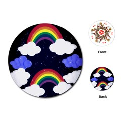 Rainbow Animation Playing Cards (round)  by Nexatart