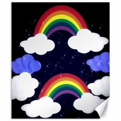 Rainbow Animation Canvas 8  X 10  by Nexatart
