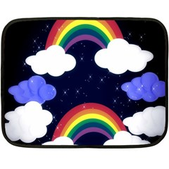 Rainbow Animation Double Sided Fleece Blanket (mini)  by Nexatart
