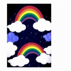 Rainbow Animation Small Garden Flag (two Sides) by Nexatart