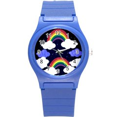 Rainbow Animation Round Plastic Sport Watch (s) by Nexatart